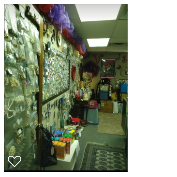 photo of the wall of the thrift store